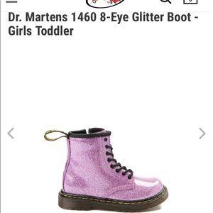 Toddler girls Pink Dr Martin boot